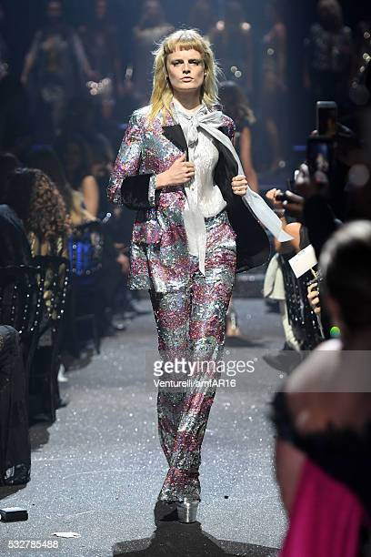 Model Hanne Gaby Odiele walks the runway during the amfAR's 23rd Cinema Against AIDS Gala at Hotel du CapEdenRoc on May 19 2016 in Cap d'Antibes...