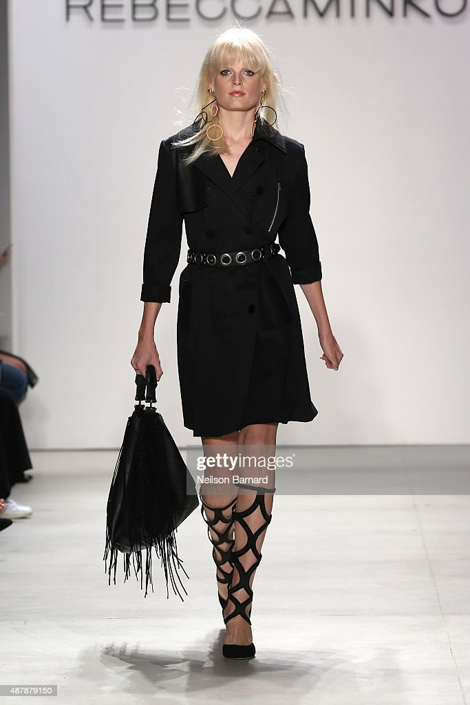 Model Hanne Gaby Odiele walks the runway wearing Rebecca Minkoff Spring 2016 with TRESemme during New York Fashion Week: The Shows at The Gallery, Skylight at Clarkson Sq on September 12, 2015 in New York City.