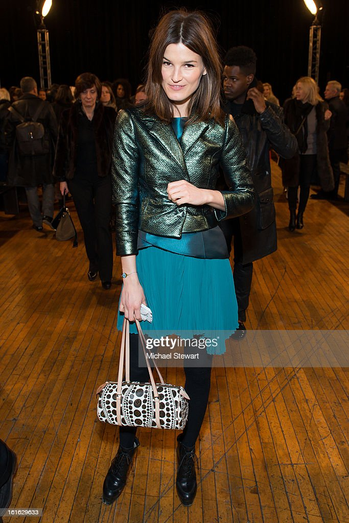 Model Hanneli Mustaparta attends Philosophy By Natalie Ratabesi during fall 2013 Mercedes-Benz Fashion Week on February 13, 2013 in New York City.