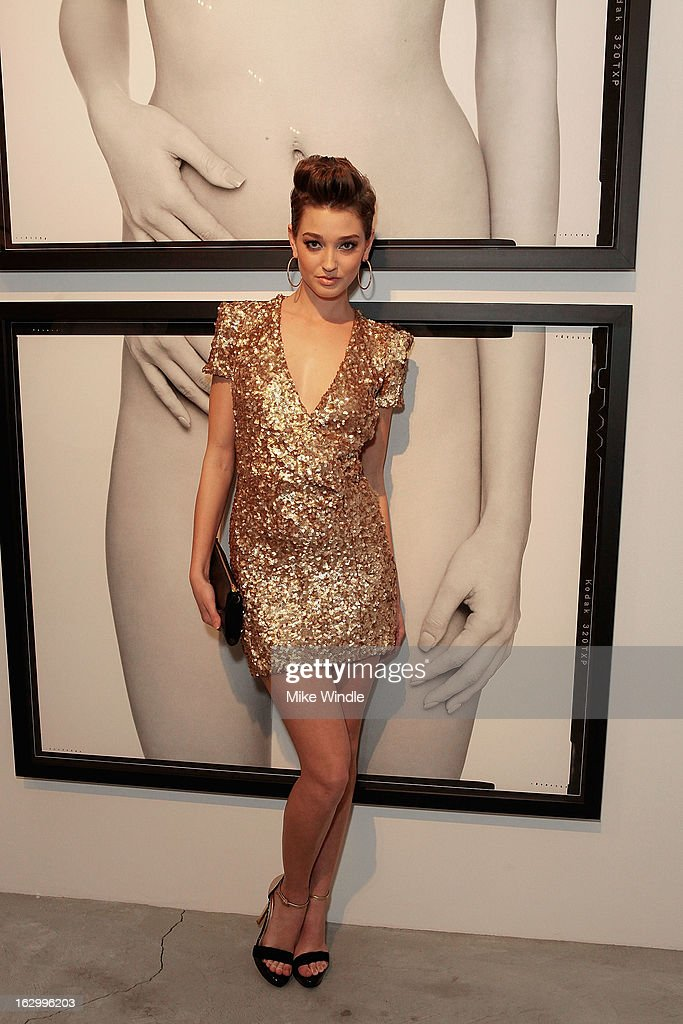 Model Heather Depriest attends the Samuel Bayer Ace Gallery Exhibit Opening, presented by Panavision at Ace Gallery on March 2, 2013 in Beverly Hills, California.
