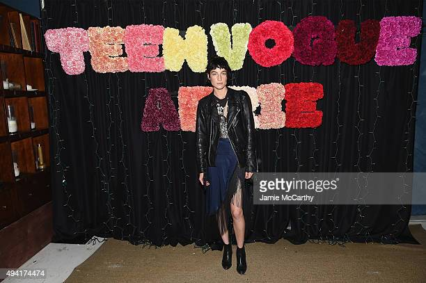 Model Heather Kemesky attends as Teen Vogue and Aerie celebrate Emma Roberts November Cover at 58 Gansevoort on October 24 2015 in New York City
