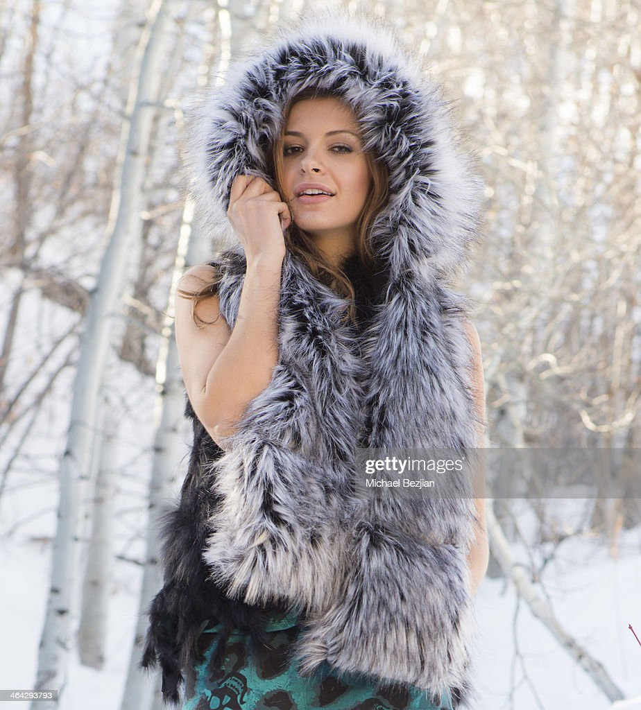 Model Heather Leih wears Beautiful Addiction and Smart Scarf at Fashion In Park City Presented By MJB Studios on January 21, 2014 in Park City, Utah.