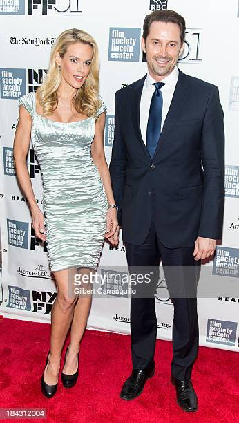 Model Heidi Albertsen and Prescott Caballero attend the Closing Night Gala Presentation Of 'Her' during the 51st New York Film Festival at Alice...