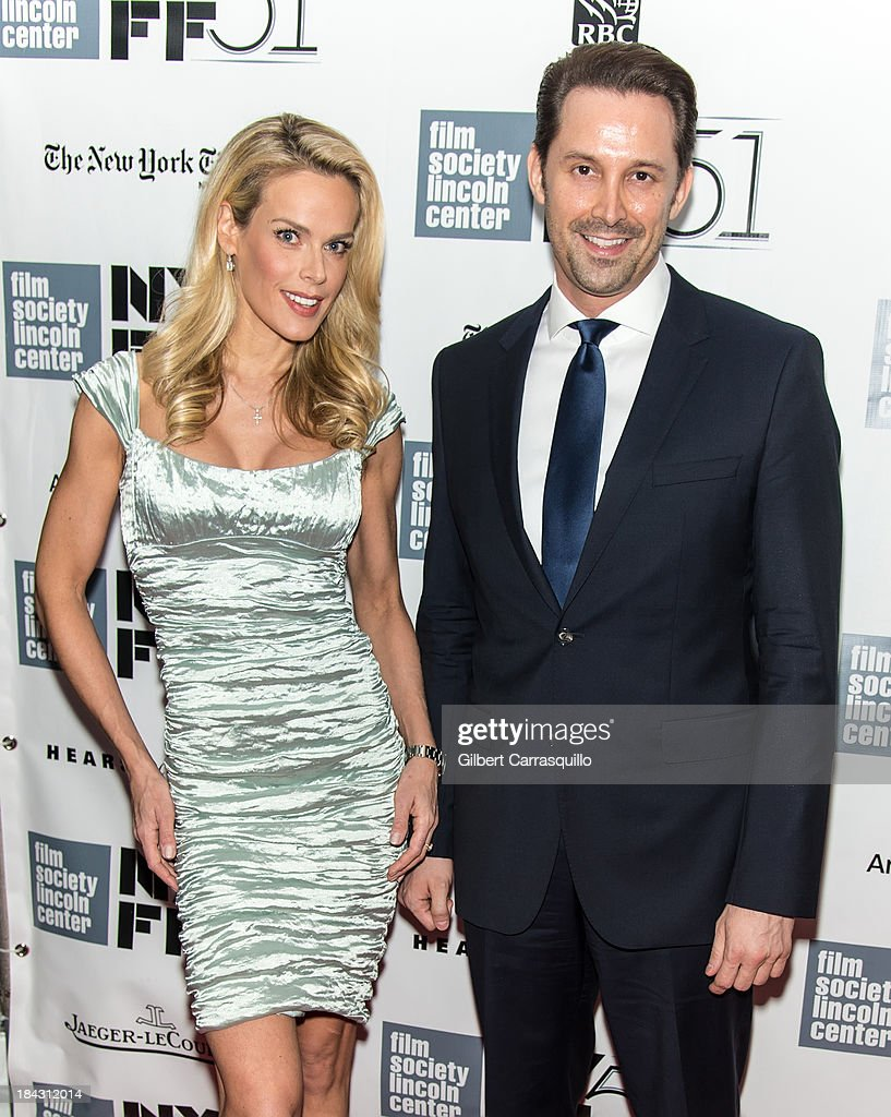 Model Heidi Albertsen (L) and Prescott Caballero attend the Closing Night Gala Presentation Of 'Her' during the 51st New York Film Festival at Alice Tully Hall at Lincoln Center on October 12, 2013 in New York City.