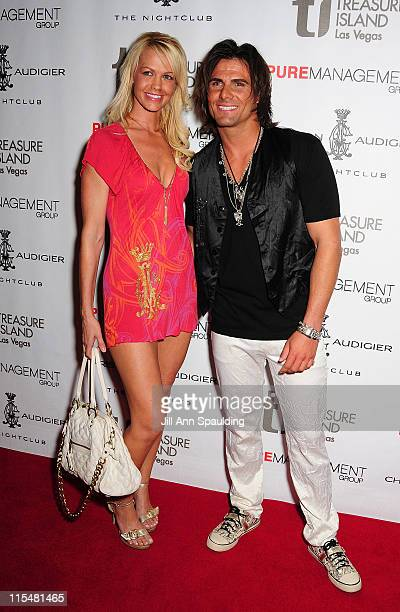 Model Heidi Freeman and Actor Jeremy Jackson arrives at The Grand Opening of Christian Audigier The Nightclub Las Vegas at Treasure Island on July 4...