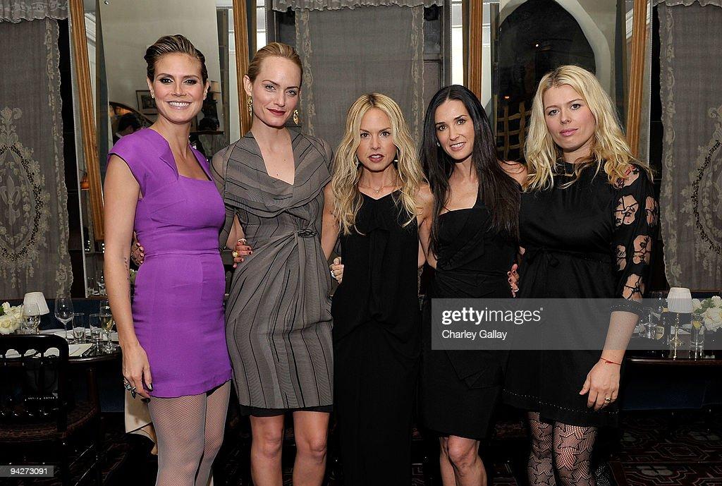 **EXCLUSIVE** Model Heidi Klum actress Amber Valletta stylist Rachel Zoe actress Demi Moore and photographer Amanda de Cadenet attend Roland Mouret's...