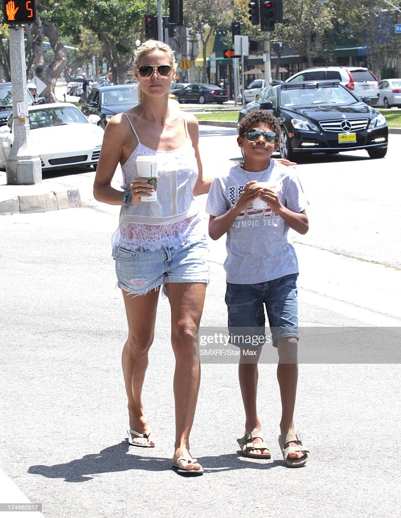 Model <a gi-track='captionPersonalityLinkClicked' href=/galleries/search?phrase=Heidi+Klum&family=editorial&specificpeople=178954 ng-click='$event.stopPropagation()'>Heidi Klum</a> and <a gi-track='captionPersonalityLinkClicked' href=/galleries/search?phrase=Henry+Samuel&family=editorial&specificpeople=3216044 ng-click='$event.stopPropagation()'>Henry Samuel</a> as seen on July 27, 2013 in Los Angeles, California.