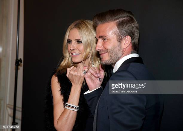 Model Heidi Klum and Honoree David Beckham attend the Sixth Biennial UNICEF Ball Honoring David Beckham and C L Max Nikias presented by Louis Vuitton...