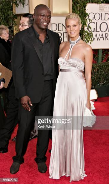 Model Heidi Klum and husband Seal arrive to the 63rd Annual Golden Globe Awards at the Beverly Hilton on January 16 2006 in Beverly Hills California