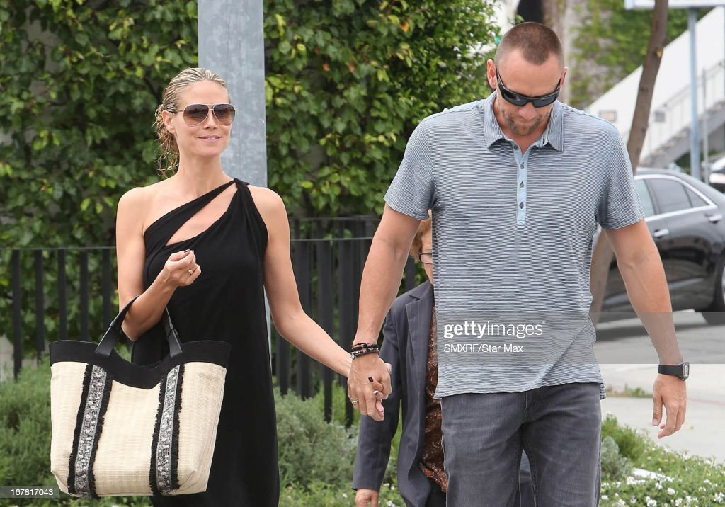Model <a gi-track='captionPersonalityLinkClicked' href=/galleries/search?phrase=Heidi+Klum&family=editorial&specificpeople=178954 ng-click='$event.stopPropagation()'>Heidi Klum</a> and Martin Kirsten as seen on April 30, 2013 in Los Angeles, California.