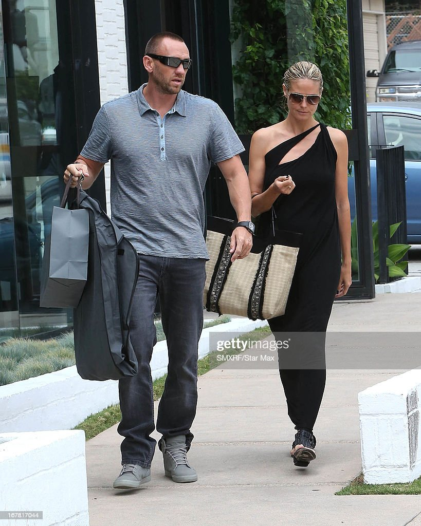 Model <a gi-track='captionPersonalityLinkClicked' href=/galleries/search?phrase=Heidi+Klum&family=editorial&specificpeople=178954 ng-click='$event.stopPropagation()'>Heidi Klum</a> (R) and Martin Kirsten as seen on April 30, 2013 in Los Angeles, California.