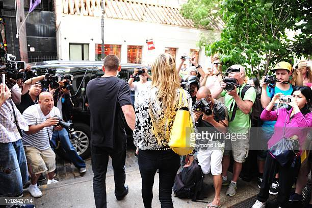 Model Heidi Klum and Martin Kristen are seen outside Louis Vuitton Store in Soho on June 11 2013 in New York City
