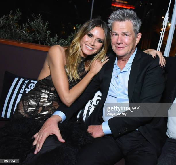 Model Heidi Klum and musician David Foster at a celebration of music with Republic Records in partnership with Absolut and Pryma at Catch LA on...