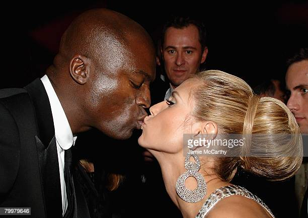 HOLLYWOOD FEBRUARY 24 Model Heidi Klum and musician Seal pose at the 16th Annual Elton John AIDS Foundation Academy Awards viewing party at the...