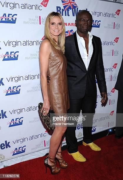 Model Heidi Klum and Seal arrive at BritWeek Gala Dinner Honoring Timothy J Leiweke and benefiting LA's BEST 'Joy of Reading' at LA Live Downtown Los...