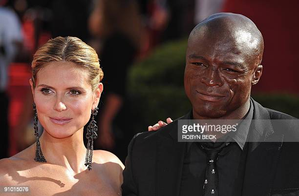 Model Heidi Klum and singer Seal arrive for the 61th Primetime Emmy Awards at the Noika Theatre in Los Angeles California on September 20 2009 AFP...