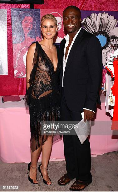 Model Heidi Klum and singer Seal attend the Distinctive Assets Gift Lounge at the World Music Awards at the Thomas Mack Convention Center on...