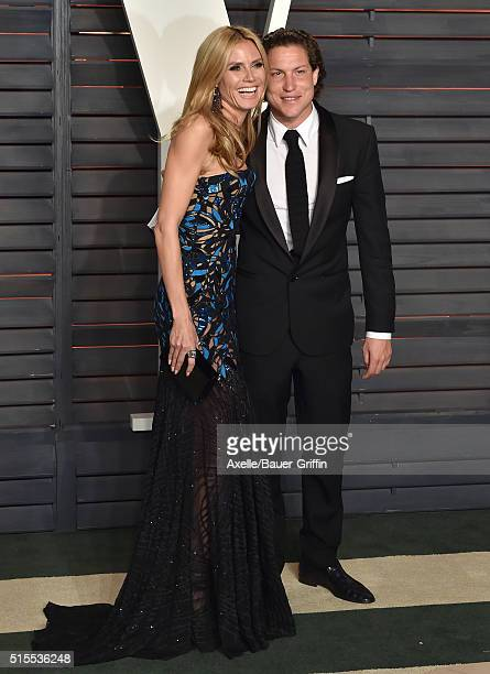 Model Heidi Klum and Vito Schnabel arrive at the 2016 Vanity Fair Oscar Party Hosted By Graydon Carter at Wallis Annenberg Center for the Performing...