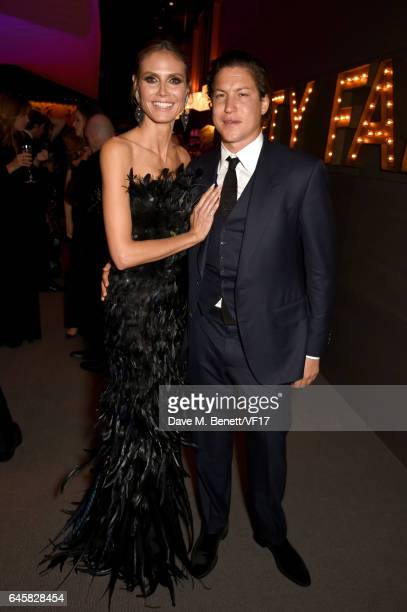 Model Heidi Klum and Vito Schnabel attend the 2017 Vanity Fair Oscar Party hosted by Graydon Carter at Wallis Annenberg Center for the Performing...