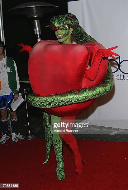Model Heidi Klum arrives at Heidi Klum's 7th Annual Halloween Party at Privilege on October 31 2006 in Los Angeles California