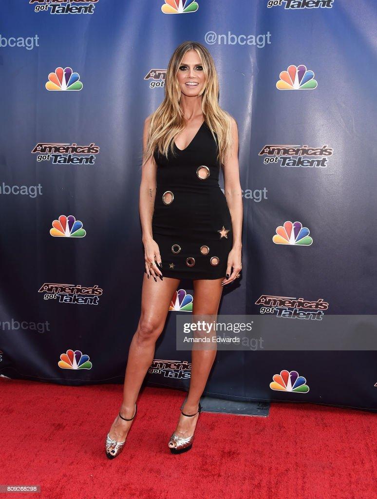 Americas got talent 2017 nz - Model Heidi Klum Arrives At Nbc S America S Got Talent Judge Cut Rounds At The