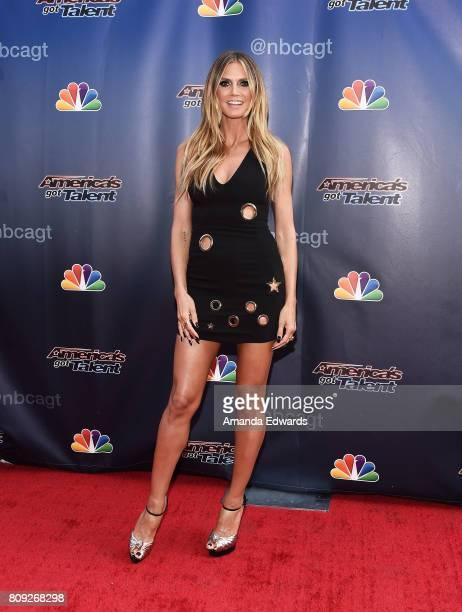Model Heidi Klum arrives at NBC's 'America's Got Talent' Judge Cut Rounds at the NBC Universal Lot on April 27 2017 in Universal City California
