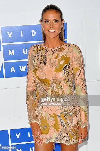 Model Heidi Klum arrives at the 2016 MTV Video Music Awards at Madison Square Garden on August 28 2016 in New York City