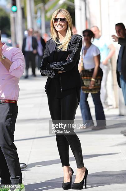 Model Heidi Klum as seen on February 12 2013 in Los Angeles California