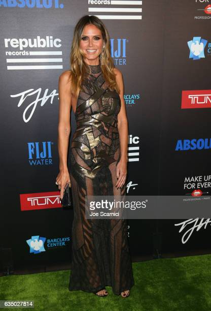 Model Heidi Klum at a celebration of music with Republic Records cosponsored by FIJI Water at Catch LA on February 12 2017 in West Hollywood...