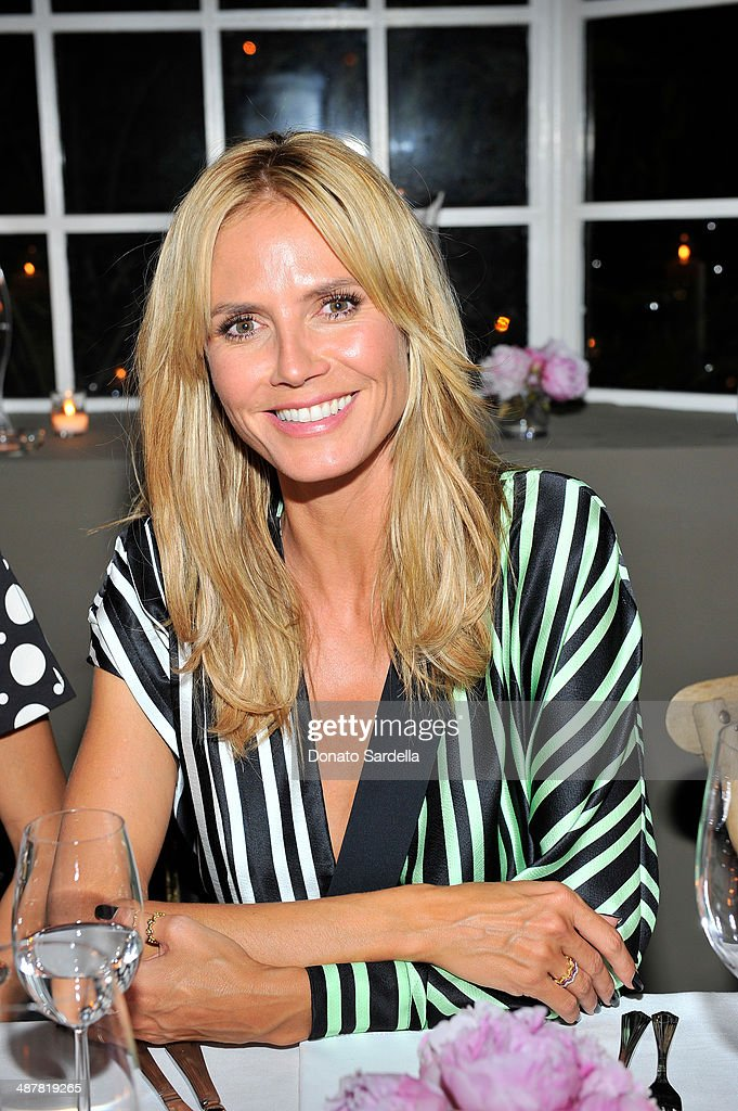 Model <a gi-track='captionPersonalityLinkClicked' href=/galleries/search?phrase=Heidi+Klum&family=editorial&specificpeople=178954 ng-click='$event.stopPropagation()'>Heidi Klum</a> attends A private dinner In honor of Fausto Puglisi of Emanuel Ungaro hosted by Barneys New York at Chateau Marmont on May 1, 2014 in Los Angeles, California.