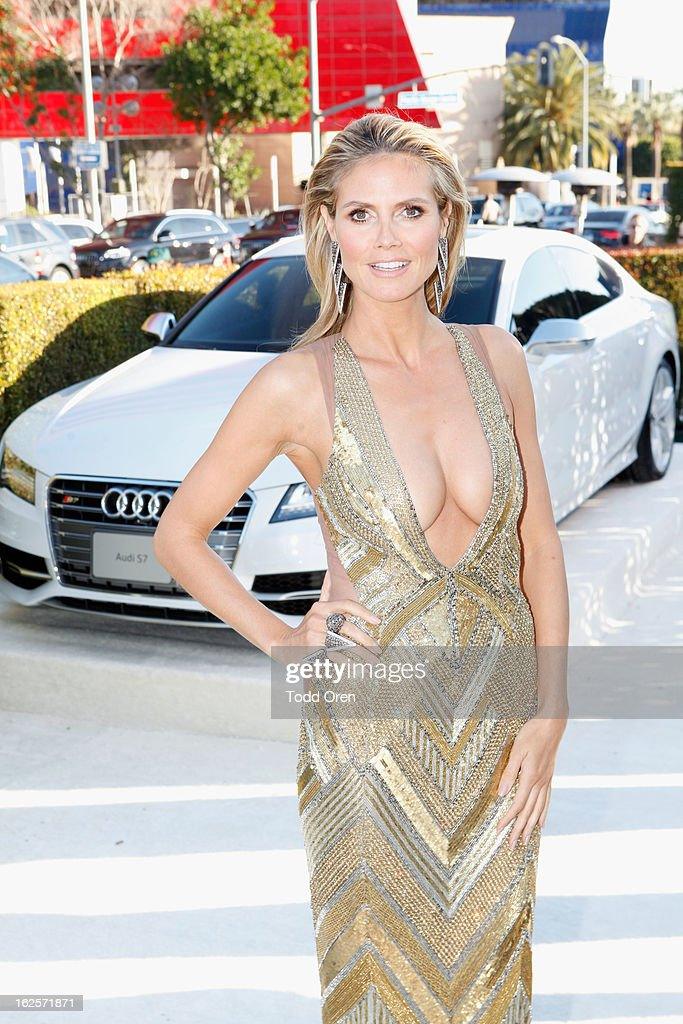 Model <a gi-track='captionPersonalityLinkClicked' href=/galleries/search?phrase=Heidi+Klum&family=editorial&specificpeople=178954 ng-click='$event.stopPropagation()'>Heidi Klum</a> attends Audi at 21st Annual Elton John AIDS Foundation Academy Awards Viewing Party at West Hollywood Park on February 24, 2013 in West Hollywood, California.