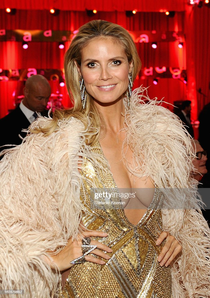 Model Heidi Klum attends Chopard at 21st Annual Elton John AIDS Foundation Academy Awards Viewing Party at West Hollywood Park on February 24, 2013 in West Hollywood, California.