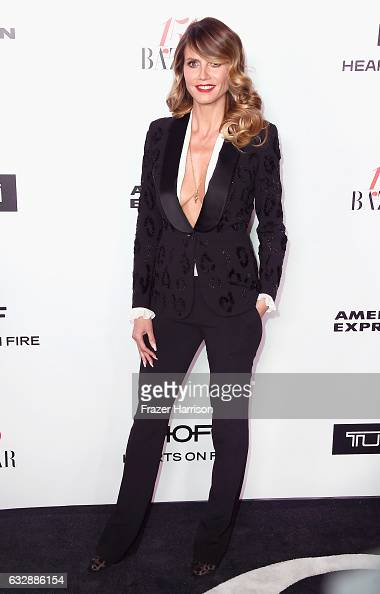 Model Heidi Klum attends Harper's Bazaar Celebrates 150 Most Fashionable Women at Sunset Tower Hotel on January 27 2017 in West Hollywood California