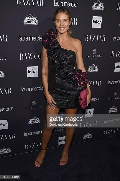 Model Heidi Klum attends Harper's Bazaar's celebration of 'ICONS By Carine Roitfeld' presented by Infor Laura Mercier and Stella Artois at The Plaza...
