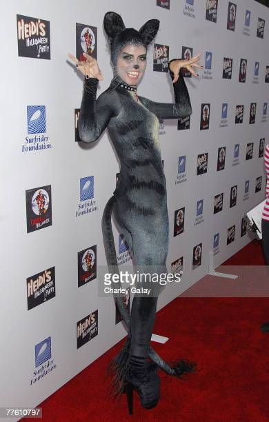 Model Heidi Klum attends her 8th Annual Halloween Party at The Green Door on October 31 2007 in Los Angeles California