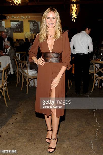 Model Heidi Klum attends Hollywood Stands Up To Cancer Event with contributors American Cancer Society and Bristol Myers Squibb hosted by Jim Toth...