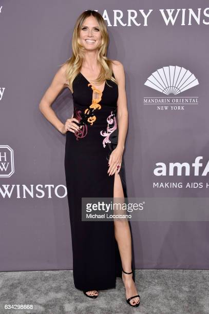 Model Heidi Klum attends the 19th Annual amfAR New York Gala at Cipriani Wall Street on February 8 2017 in New York City