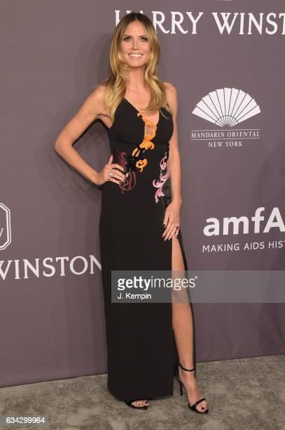 Model Heidi Klum attends the 19th Annual amfAR New York Gala at Cipriani Wall Street on February 8 2017 in New York City