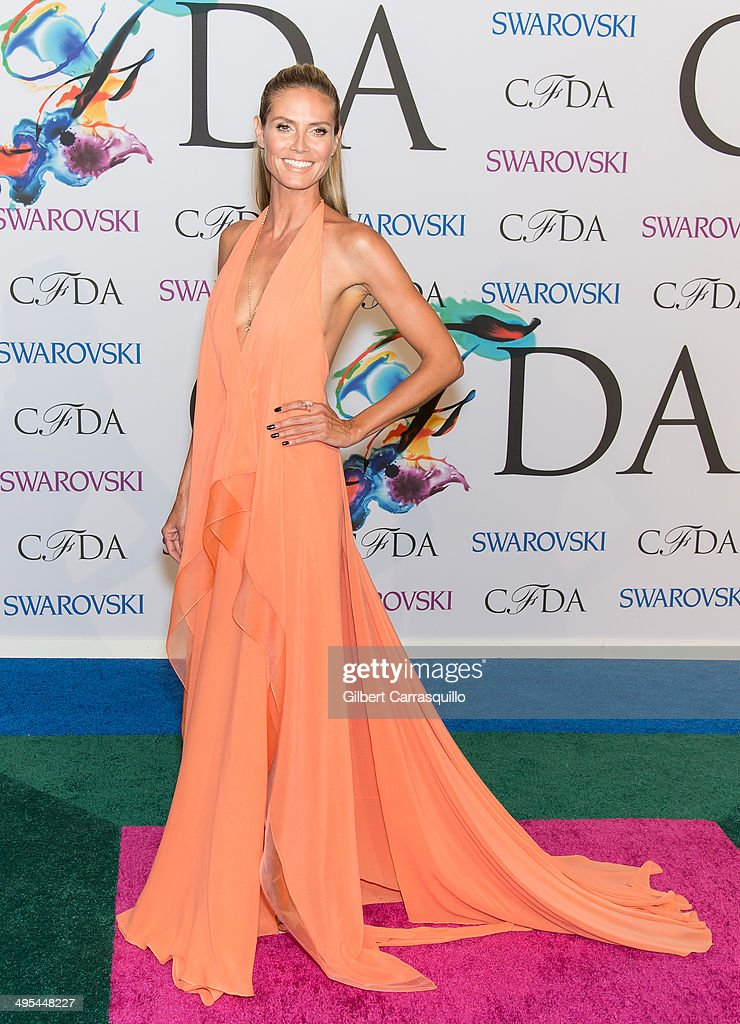 Model <a gi-track='captionPersonalityLinkClicked' href=/galleries/search?phrase=Heidi+Klum&family=editorial&specificpeople=178954 ng-click='$event.stopPropagation()'>Heidi Klum</a> attends the 2014 CFDA fashion awards at Alice Tully Hall, Lincoln Center on June 2, 2014 in New York City.