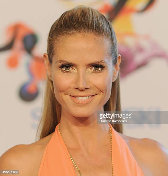 Model Heidi Klum attends the 2014 CFDA fashion awards at Alice Tully Hall Lincoln Center on June 2 2014 in New York City