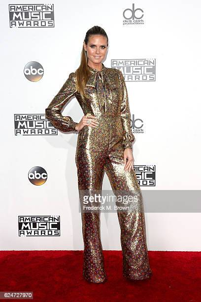 Model Heidi Klum attends the 2016 American Music Awards at Microsoft Theater on November 20 2016 in Los Angeles California