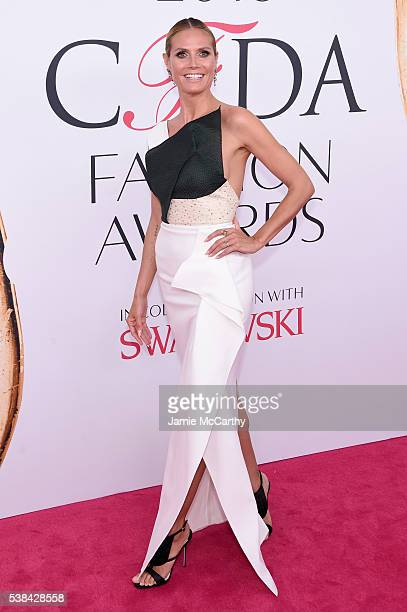 Model Heidi Klum attends the 2016 CFDA Fashion Awards at the Hammerstein Ballroom on June 6 2016 in New York City