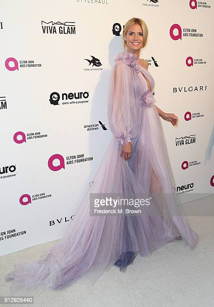 Model Heidi Klum attends the 24th Annual Elton John AIDS Foundation's Oscar Viewing Party on February 28 2016 in West Hollywood California