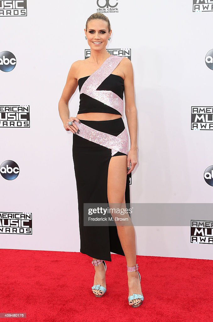 Model <a gi-track='captionPersonalityLinkClicked' href=/galleries/search?phrase=Heidi+Klum&family=editorial&specificpeople=178954 ng-click='$event.stopPropagation()'>Heidi Klum</a> attends the 42nd Annual American Music Awards at the Nokia Theatre L.A. Live on November 23, 2014 in Los Angeles, California.
