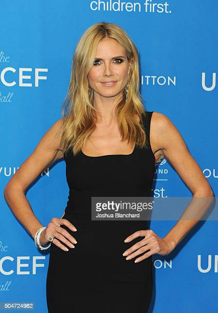 Model Heidi Klum attends the 6th Biennial UNICEF Ball at the Beverly Wilshire Four Seasons Hotel on January 12 2016 in Beverly Hills California