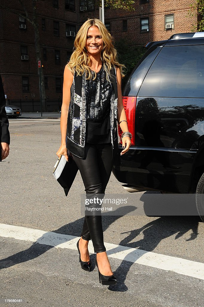Model Heidi Klum attends the BCBGMAXAZRIA Spring 2014 fashion show during Mercedes-Benz Fashion Week at The Theatre at Lincoln Cente on September 5, 2013 in New York City.