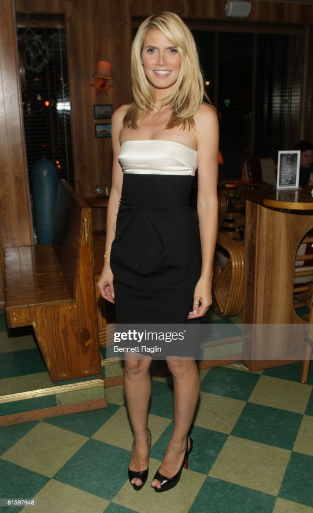 Model Heidi Klum attends the 'Project Runway' party after the 67th Annual Peabody Awards at the Rusty Knot on June 16 2008 in New York City