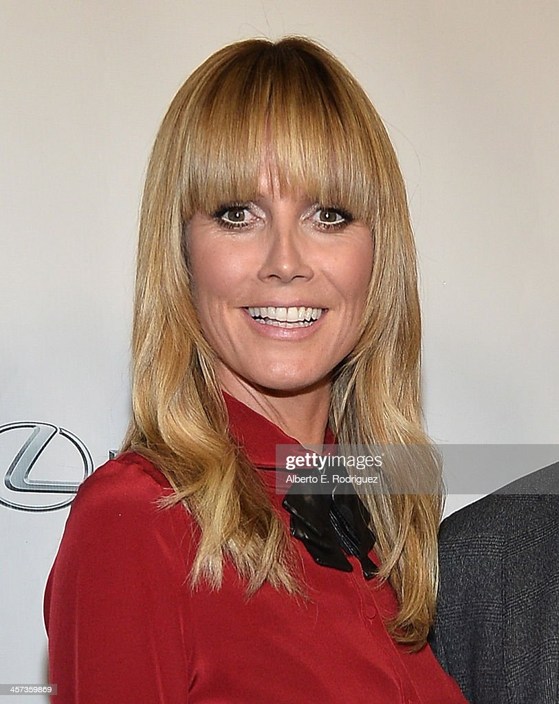 Model <a gi-track='captionPersonalityLinkClicked' href=/galleries/search?phrase=Heidi+Klum&family=editorial&specificpeople=178954 ng-click='$event.stopPropagation()'>Heidi Klum</a> attends the 'Under The Gunn' Finale Fashion Show at Los Angeles Theatre on December 16, 2013 in Los Angeles, California.