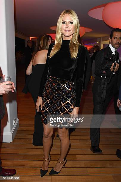 Model Heidi Klum attends Vanity Fair and Chopard AfterParty Celebrating the Cannes Film Festival at Hotel du CapEdenRoc on May 14 2016 in Cap...