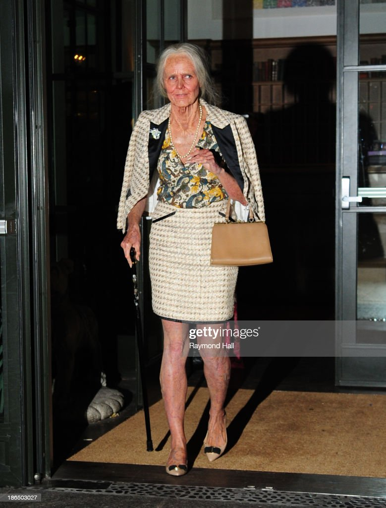 Model <a gi-track='captionPersonalityLinkClicked' href=/galleries/search?phrase=Heidi+Klum&family=editorial&specificpeople=178954 ng-click='$event.stopPropagation()'>Heidi Klum</a> is seen dressed up as an old woman coming out of her hotel on October 31, 2013 in New York City.